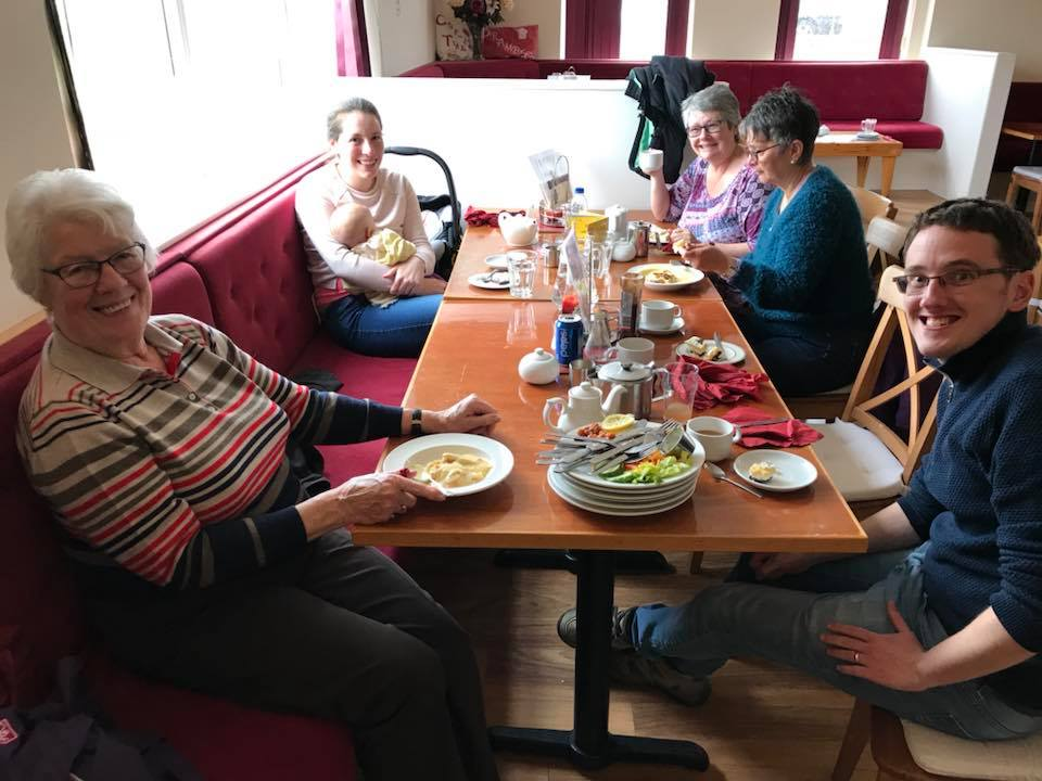 One of the things that Graeme said had been important to developing relationships in McKinnon was eating together, and afterwards some of us went out to Brambles Tearoom for lunch!