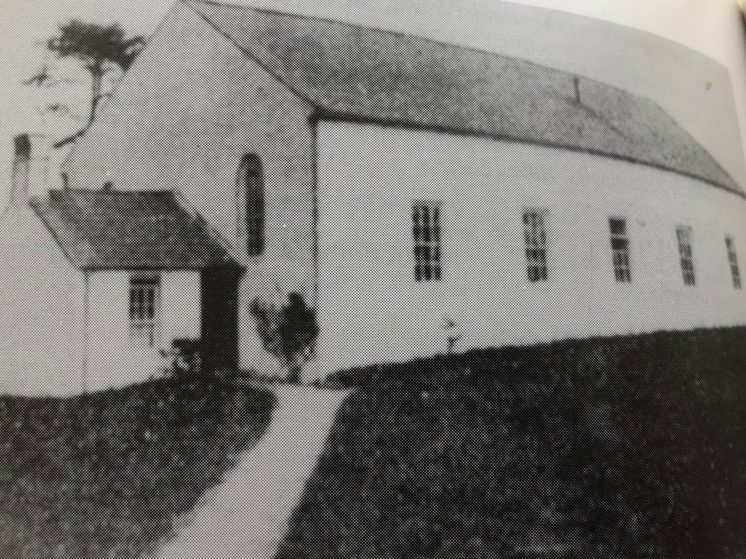 The Faughan church building as it was at the time the letter was written