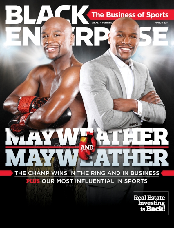 FLoyd mayweather appears on the cover of black enterprise in march 2014.
