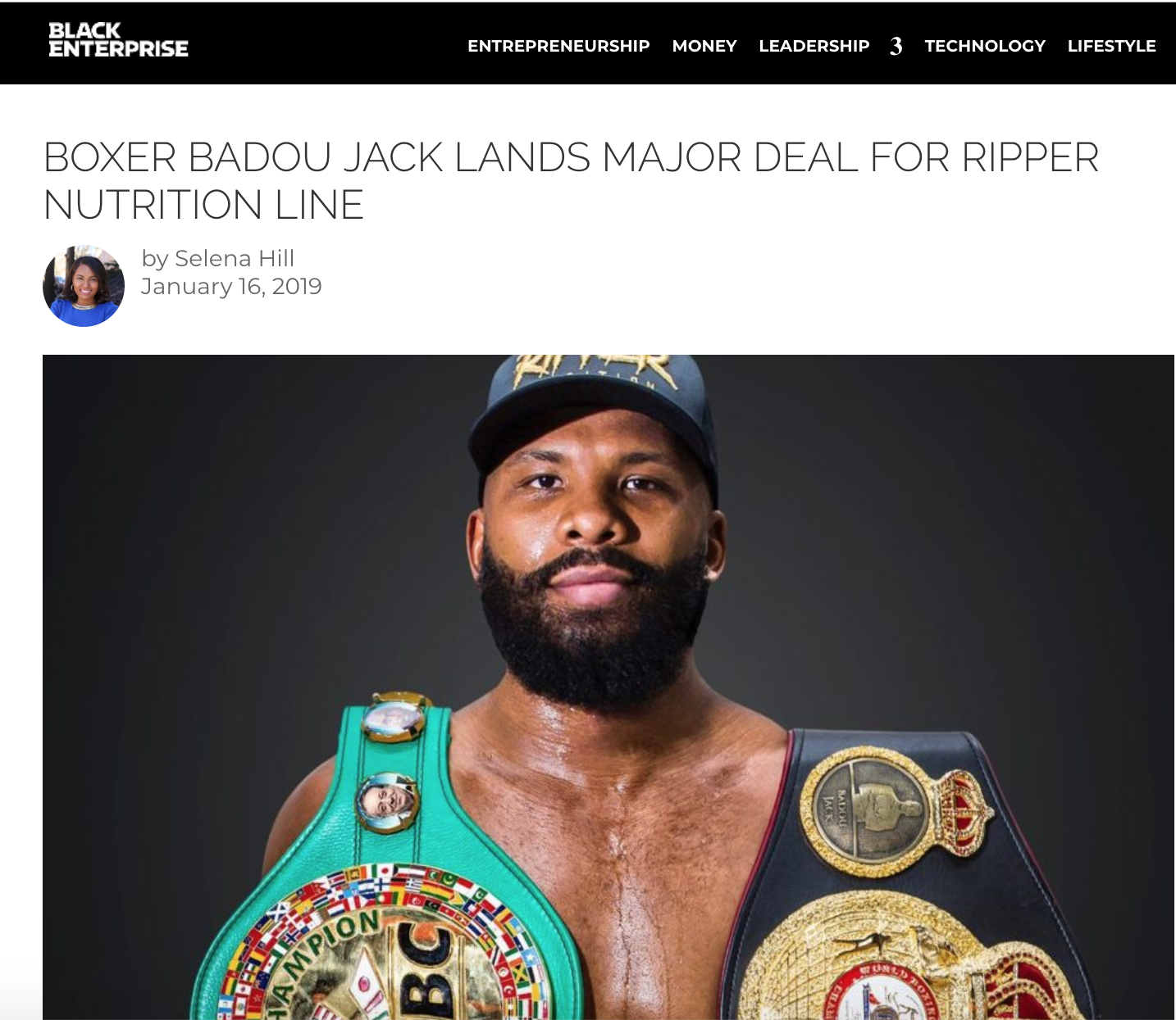 badou prepares for the ring with the help from his secret weapon - ripper nutrition