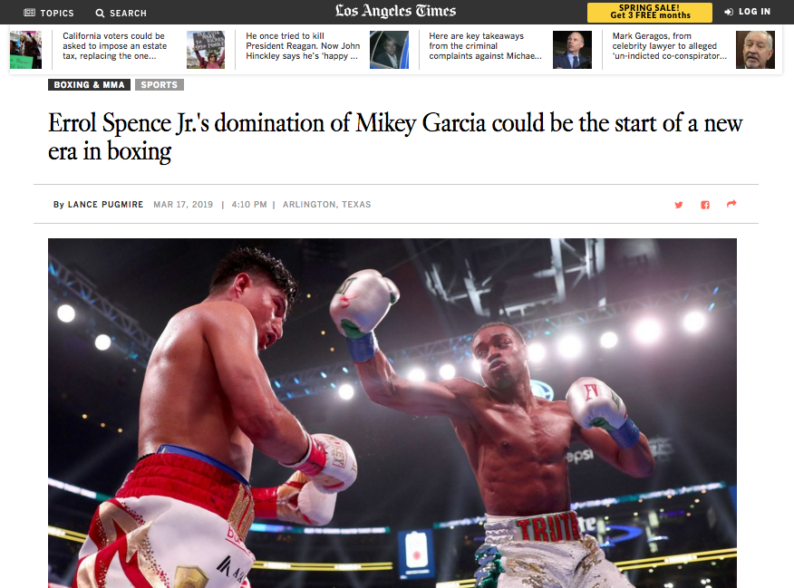 Spence jr beats Garcia in historic 1st pbc on fox sports pay-per-view event