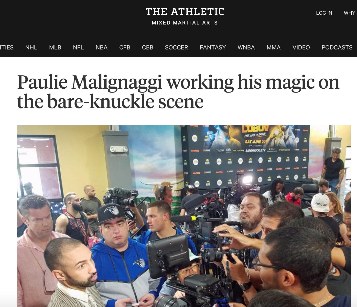 PAULIE MALIGNAGGI WORKING THE SCENE AT BKCF 6 IN FLORIDA