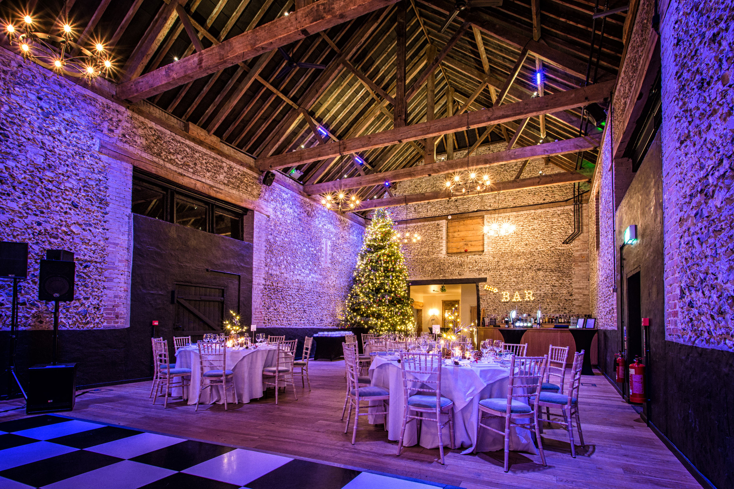 Three course seasonal meal in The Granary Barn
