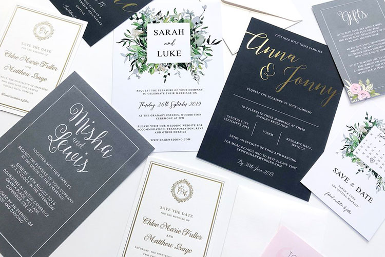 All images courtesy of The Luxe Paper Co.