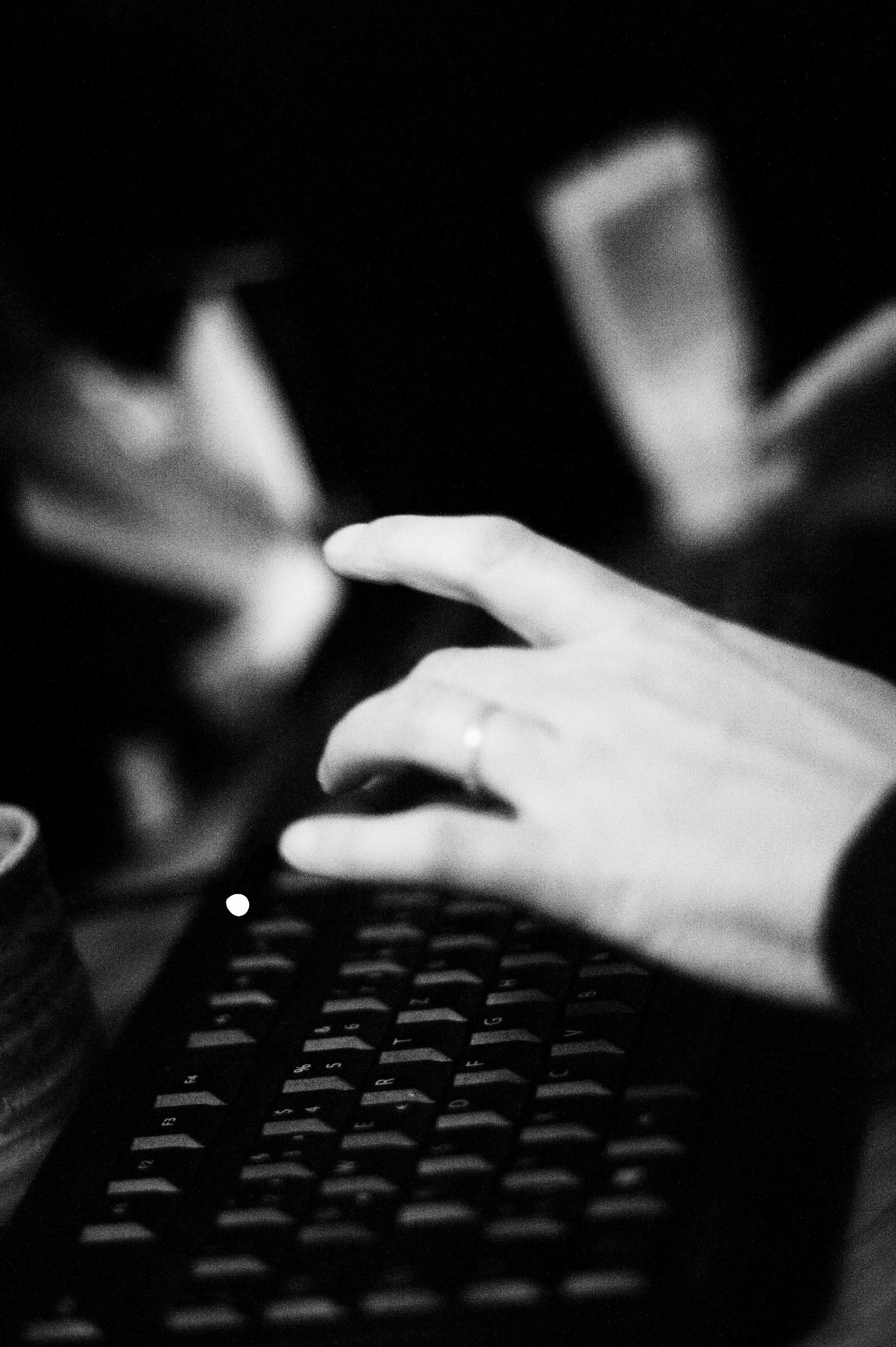 Die Tastatur, das wertvolle Ding.