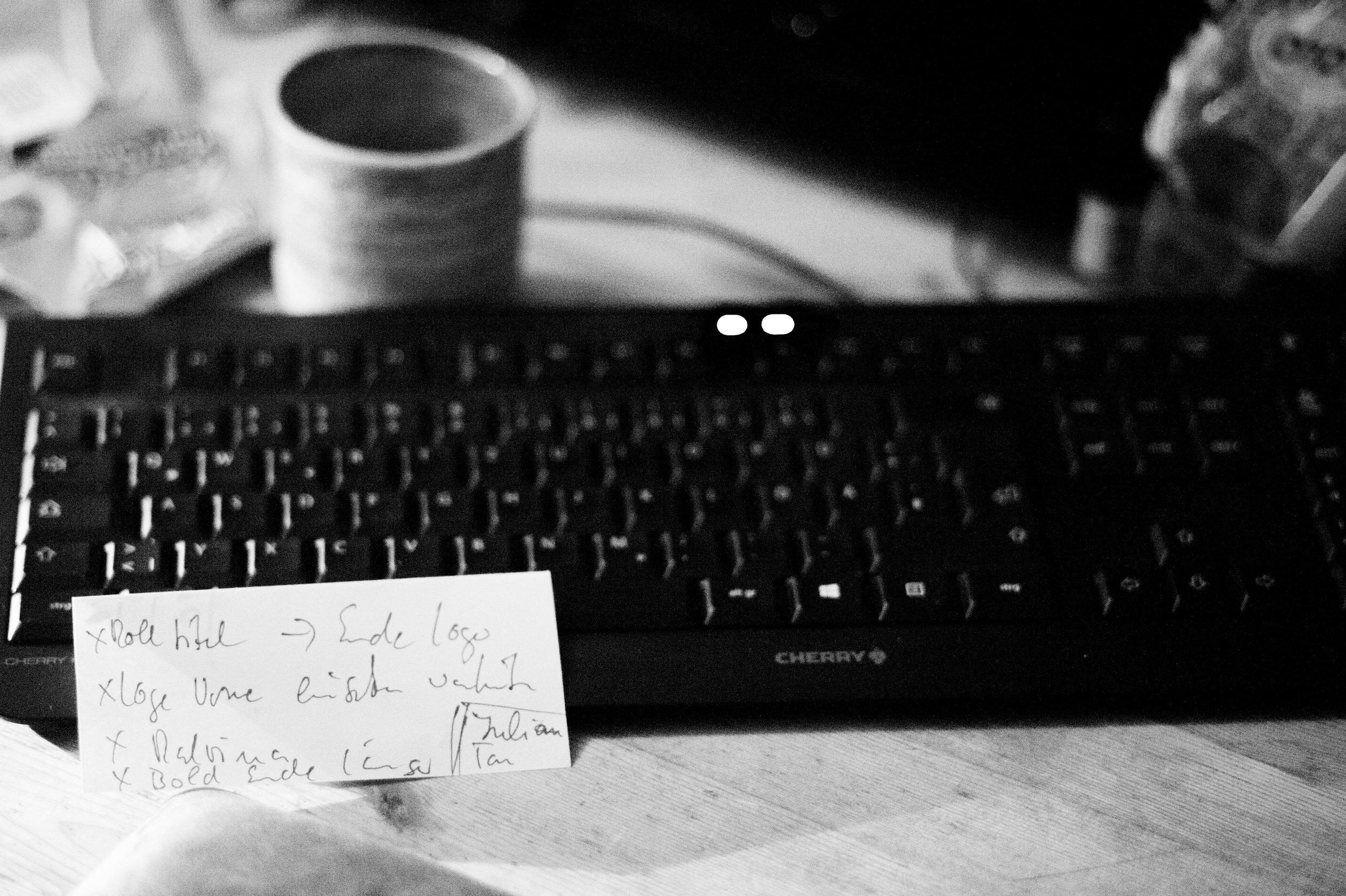 Notes was noch zu tun ist.