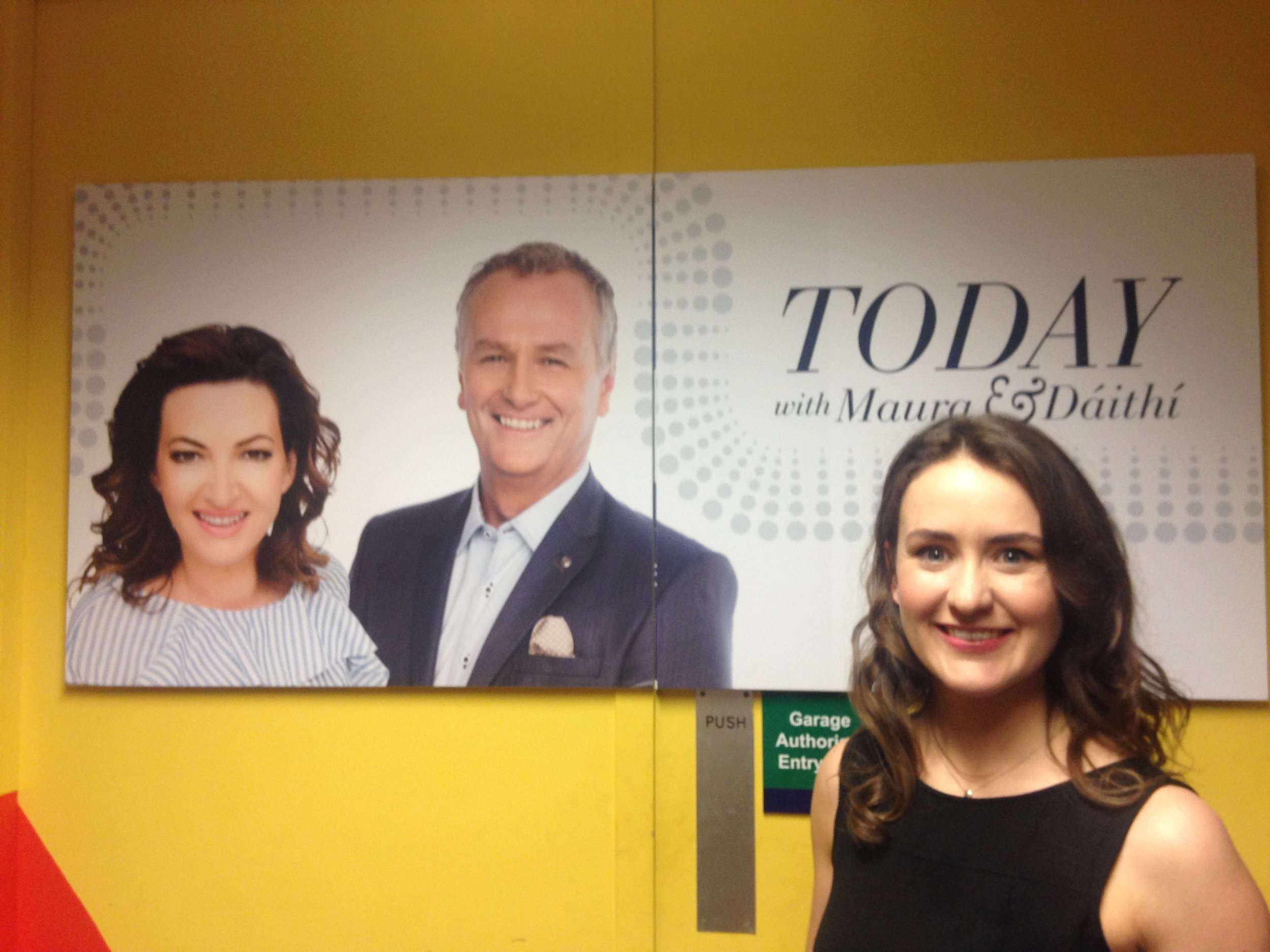 Amy chats to Maura and Daithi on the Today Show