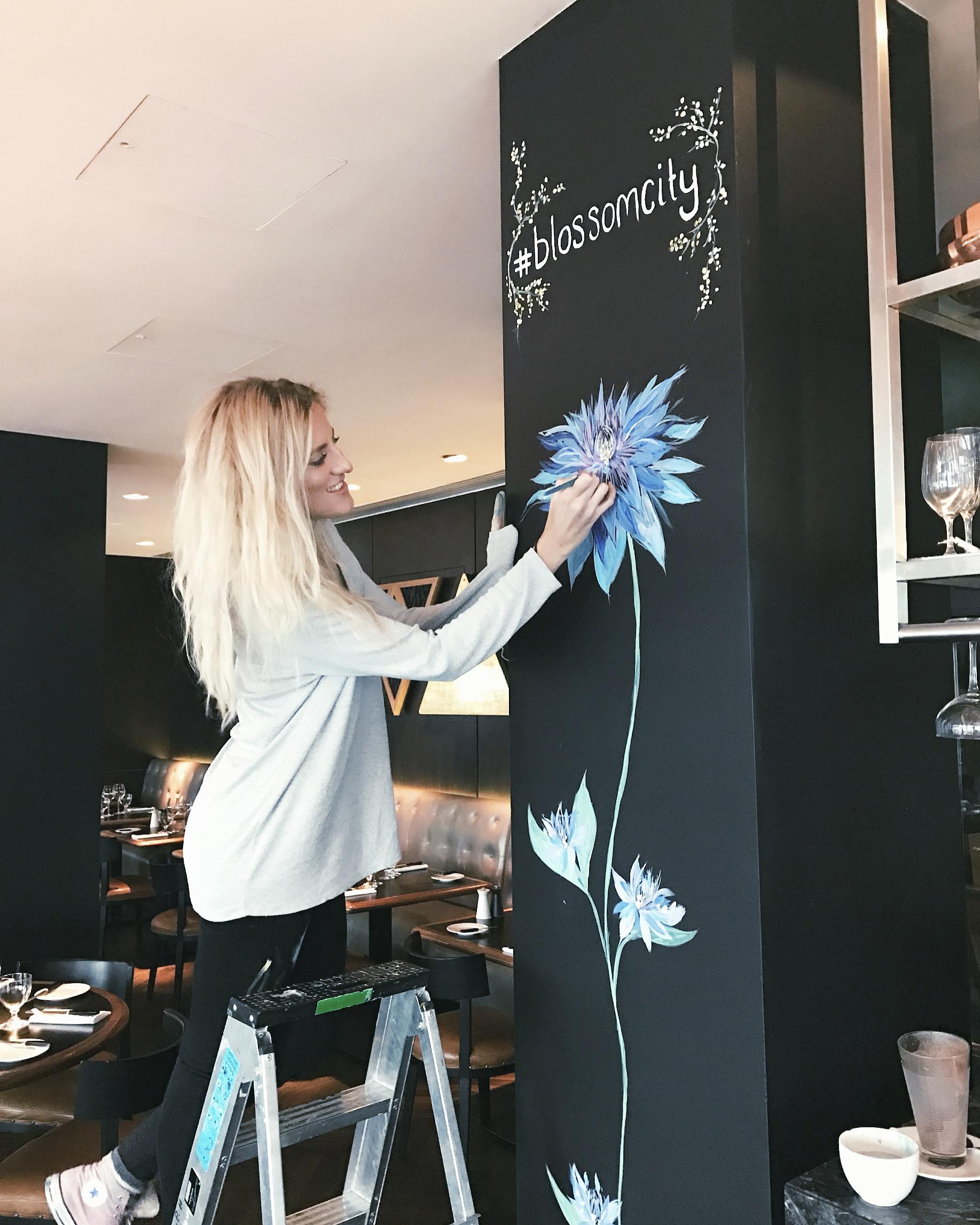 Sophie Tea Blossom City Flower Mural