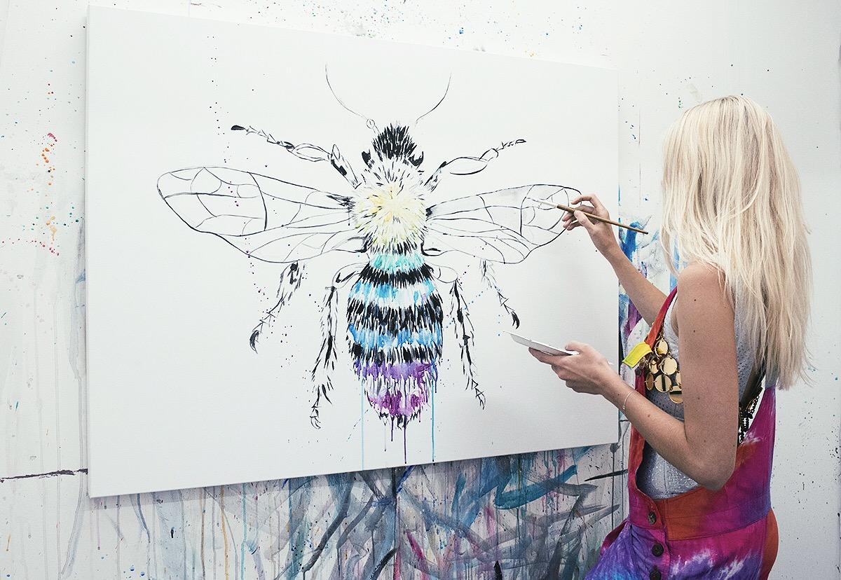 The Manchester Bee Sophie Tea Art