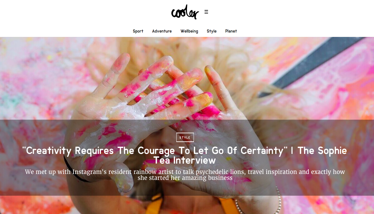 "Cooler Mag     ""Creativity Requires The Courage To Let Go Of Certainty"" 