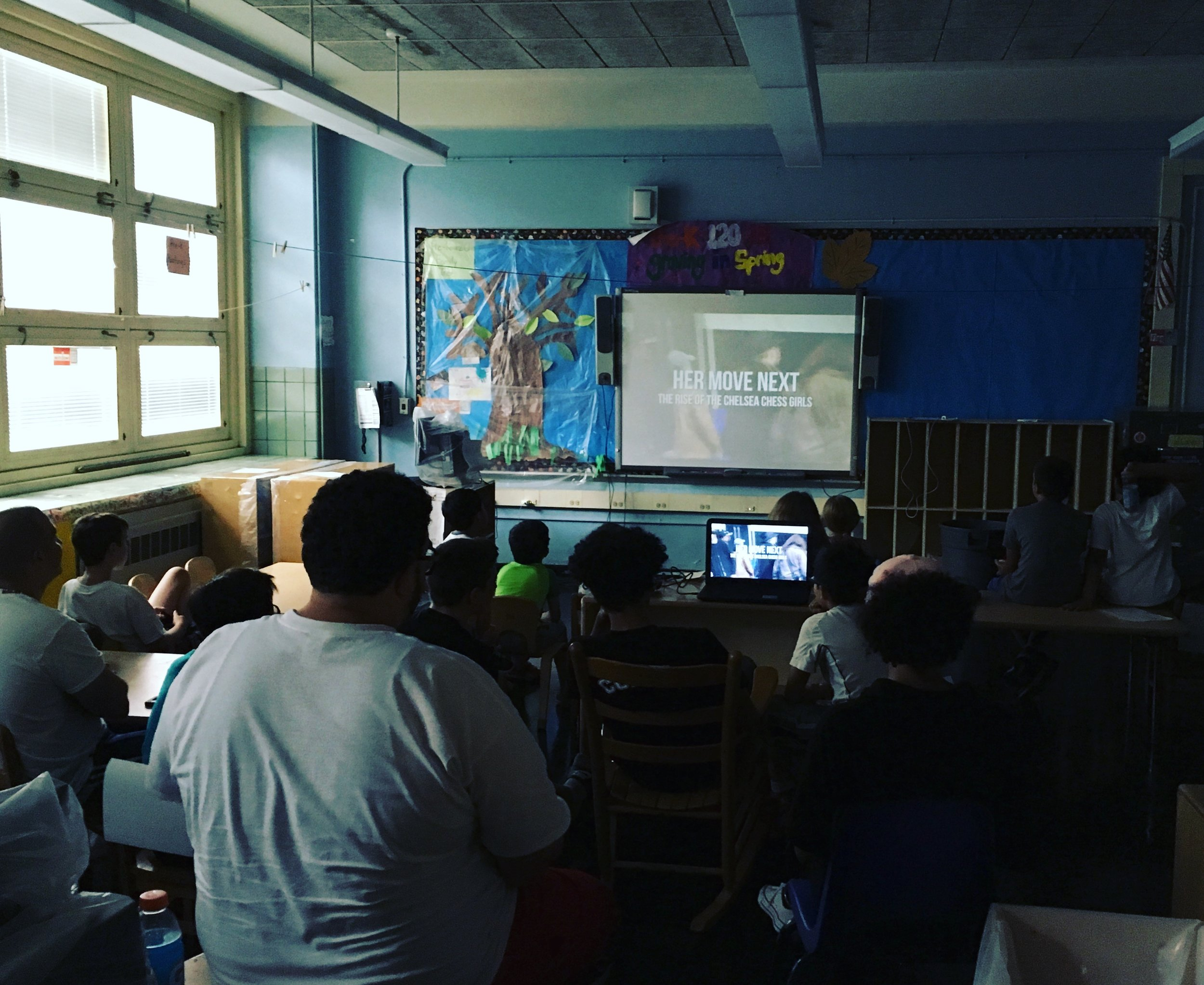 """Campers enjoy a first screening of """"Her Move Next"""""""