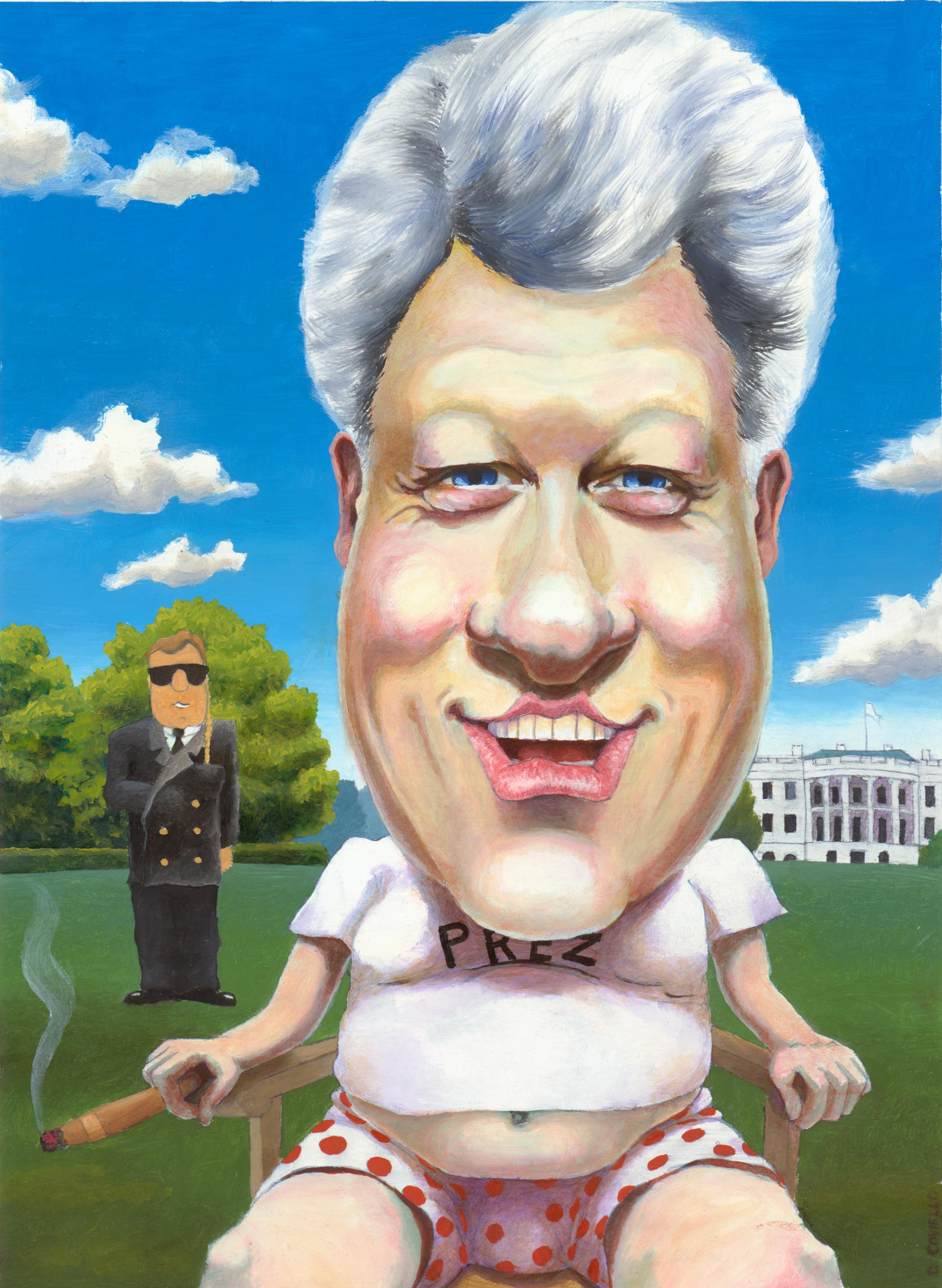 "Slick Willy, 2005 (8""x10"" oil on bristol board)"