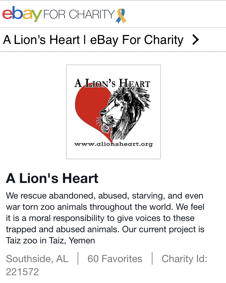 Buy or Sell to benefit A Lion's Heart