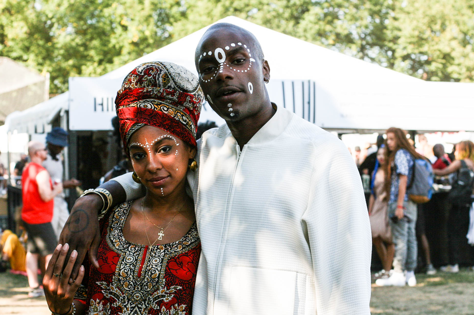 @youngparis & @itsmissjessica at @enitan_vintage / @liberatedpeople stand at #afropunk