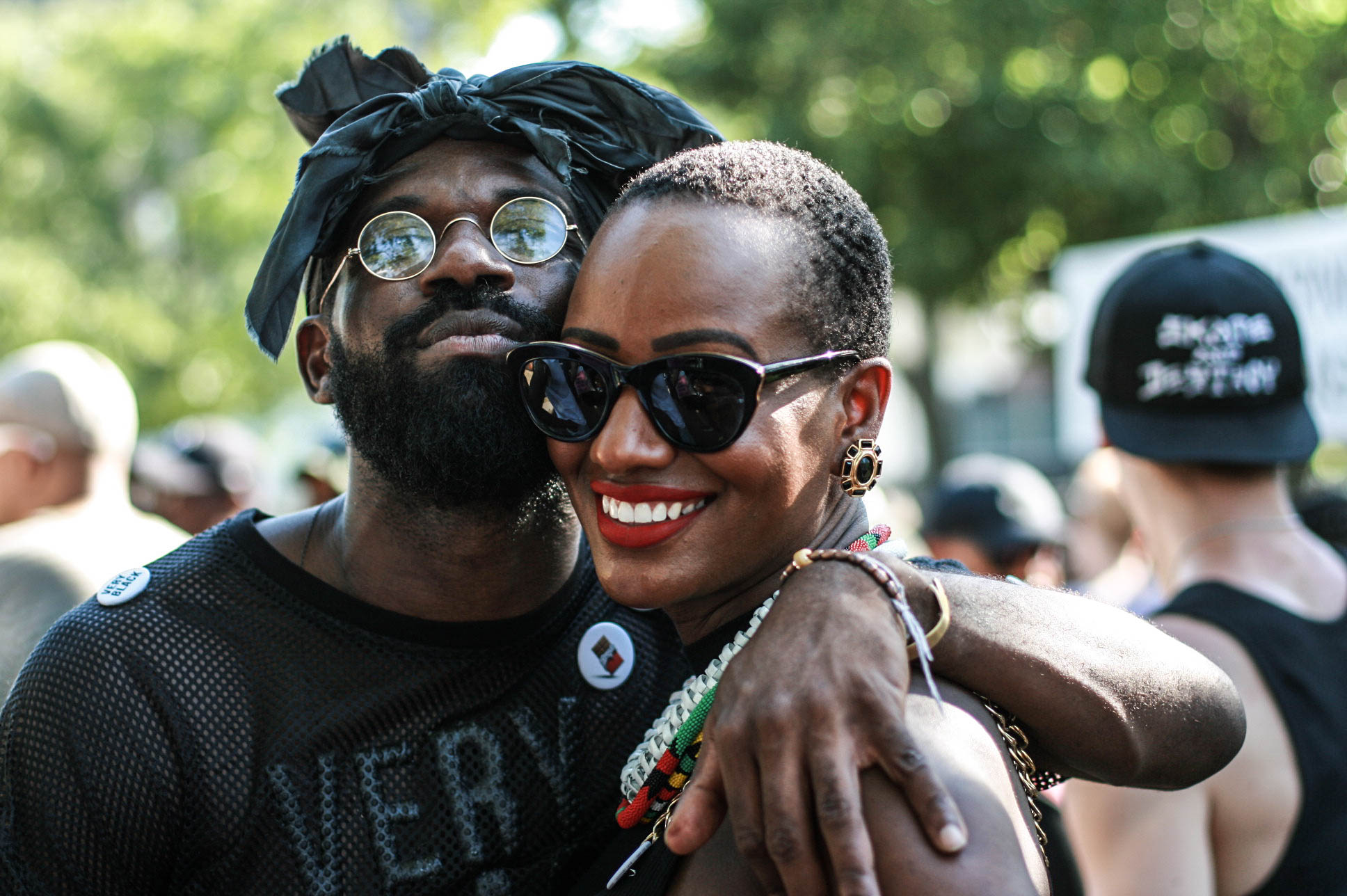 Andre D. Singleton creator of #veryblackproject at #afropunkfest .