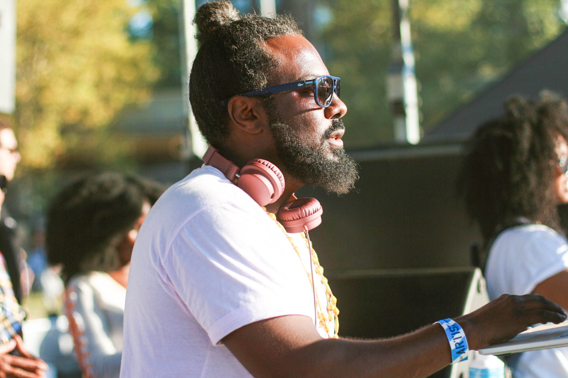 @djmoma during his set at #Afropunkfest .