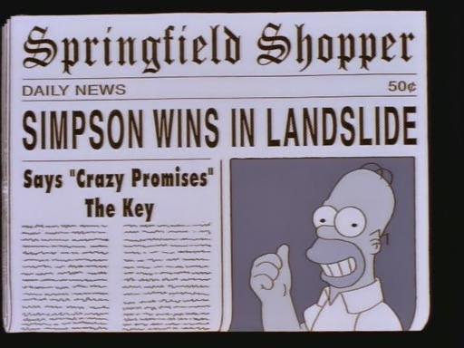 Homer, running at the state level.