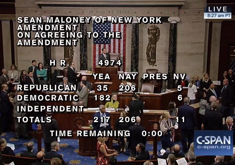 At 11:27am Eastern Standard Time (thank you C-SPAN!)
