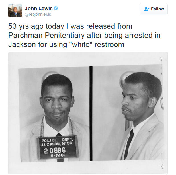 Representative John Lewis, making #GoodTrouble since 1961