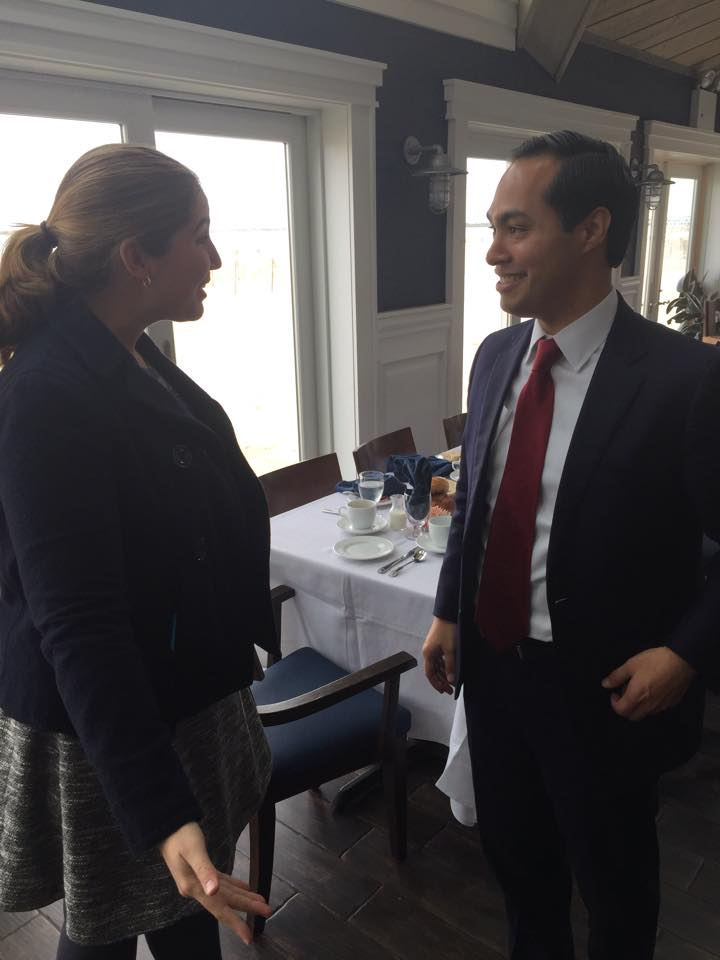 Me with Secretary Castro, who low-key looks like he wants to get out of this conversation.