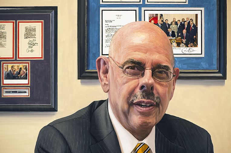 This appears to be a painting of Henry Waxman, so apparently I'm not his number one fan.