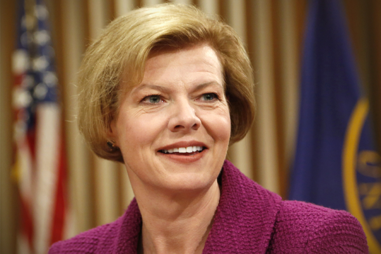 The one, the only, the love of my life, Senator Tammy Baldwin.