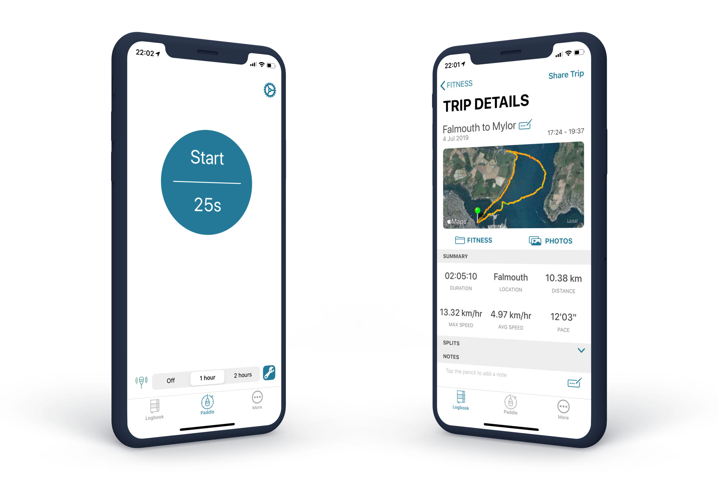 Designed for watersports - 1 tap, stow and go! Quickly and easily track your paddles.View, share and compare your adventures, ready for the next one!Integration with Apple Health fills your Activity Rings.