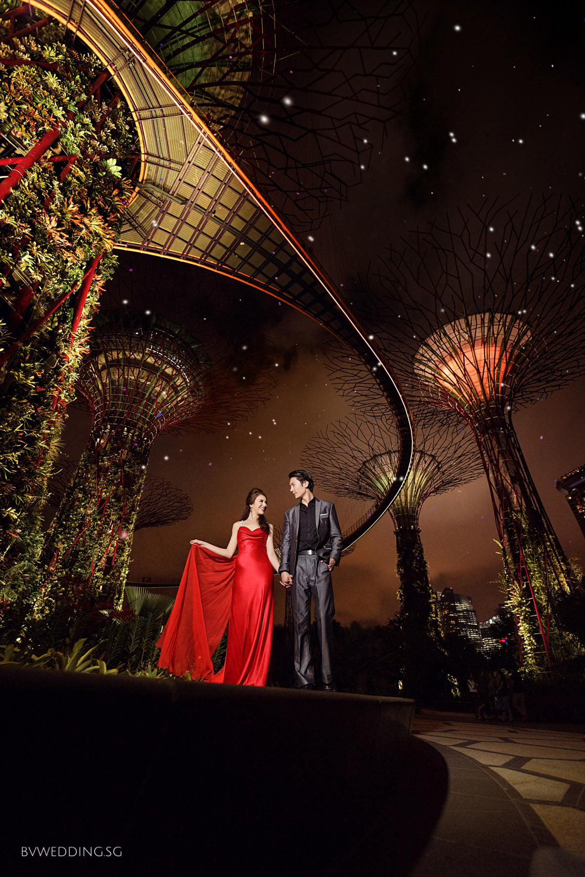 Singapore Wedding Photography garden by the bay