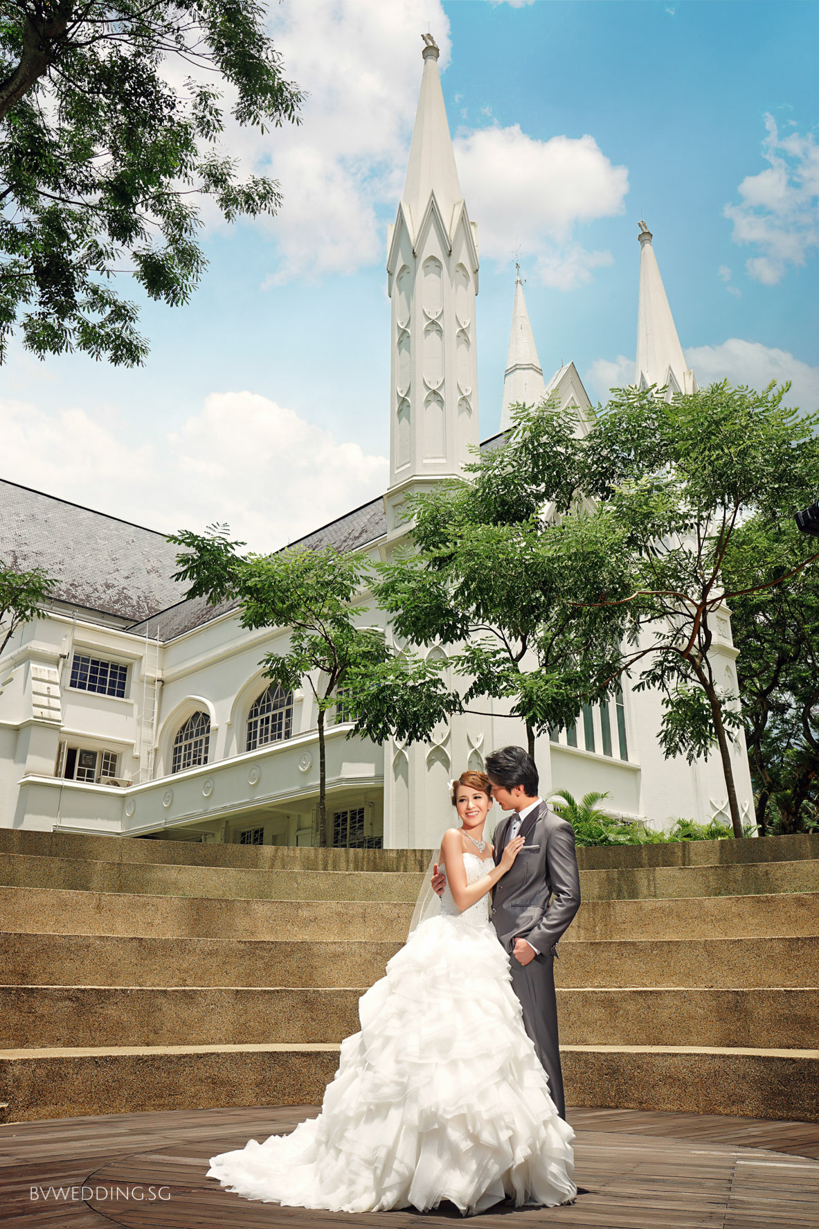 Pre-wedding Photoshoot at St.Andrew Catherdral