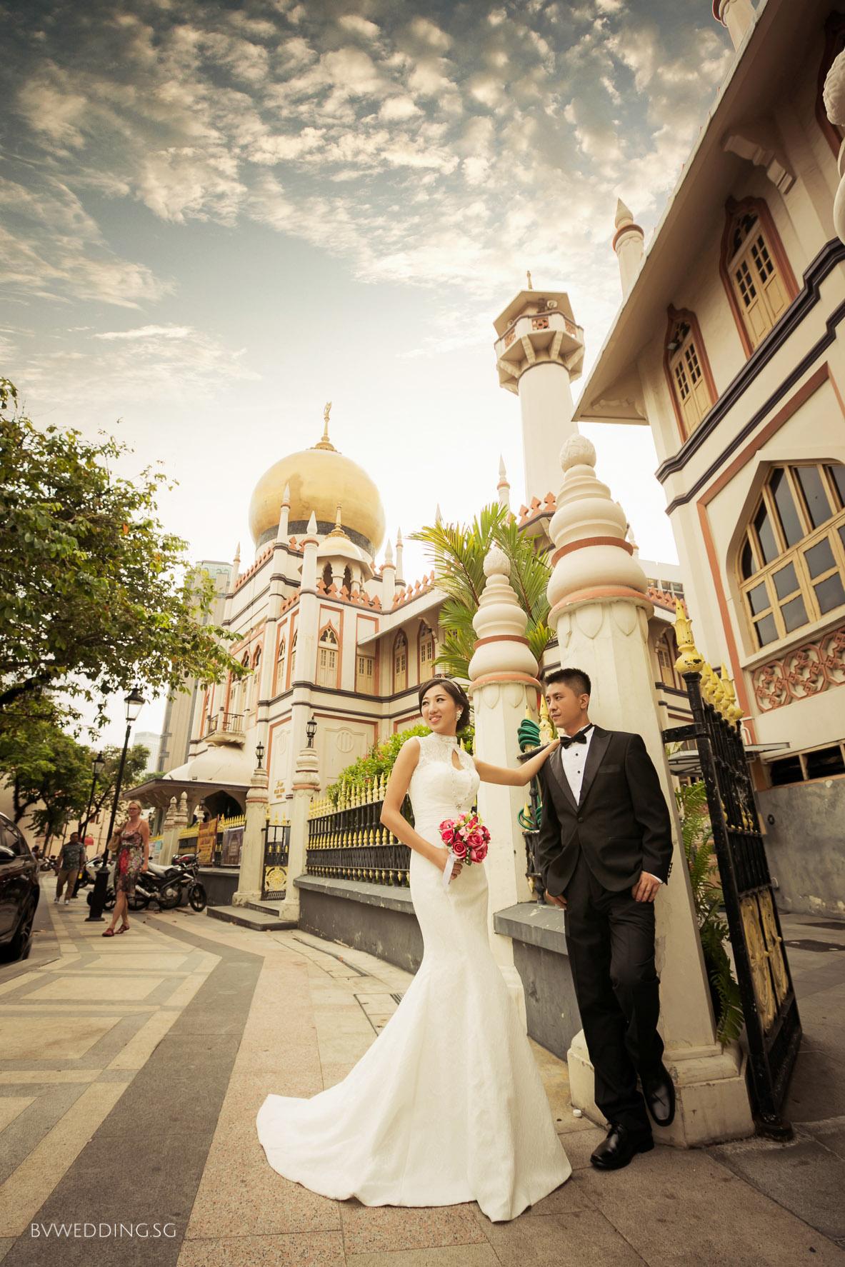 Pre-wedding Photoshoot at Sultan Mosque