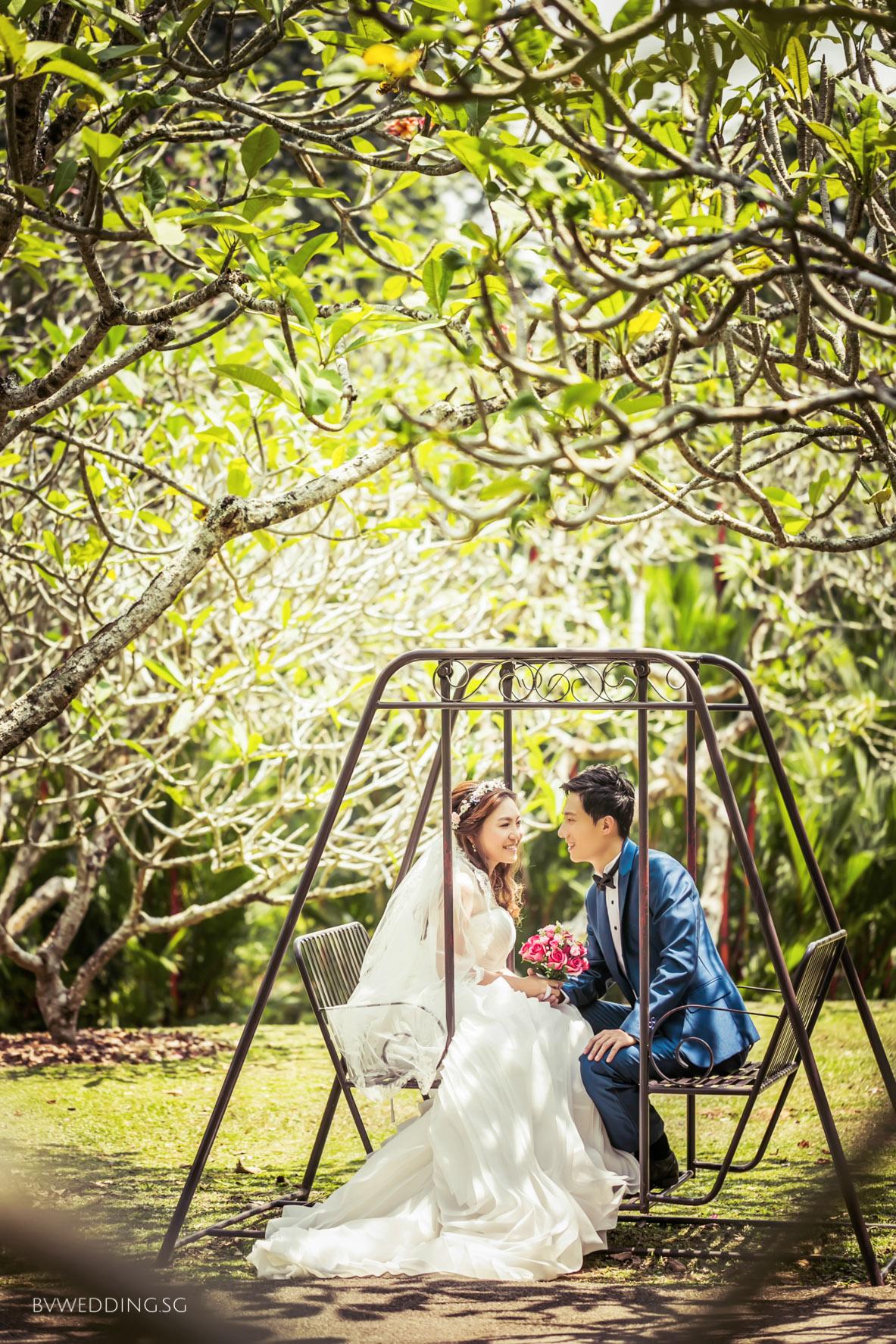 Pre-wedding Photoshoot at Botanic Gardens