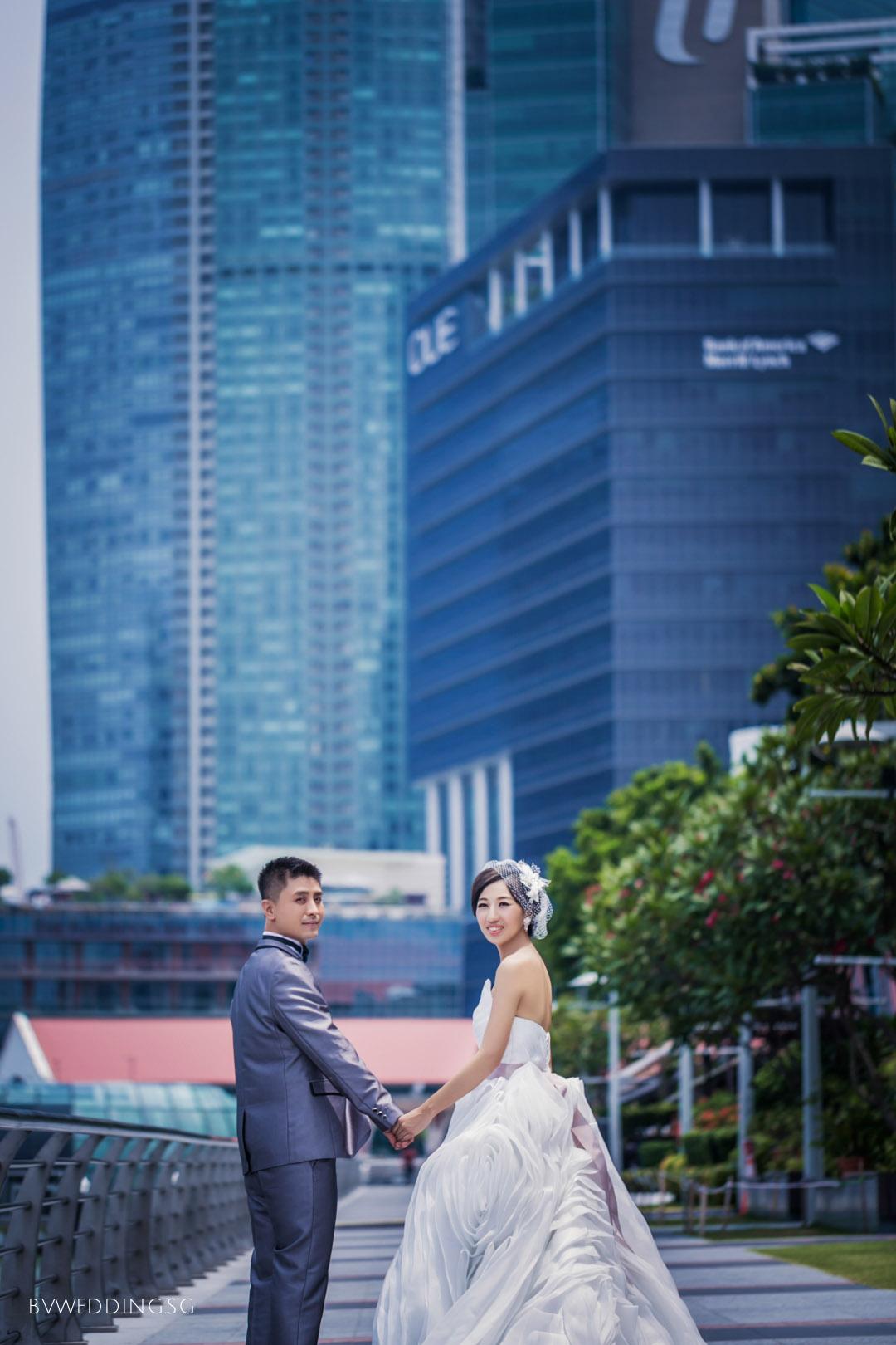 Pre-wedding Photoshoot at Merlion