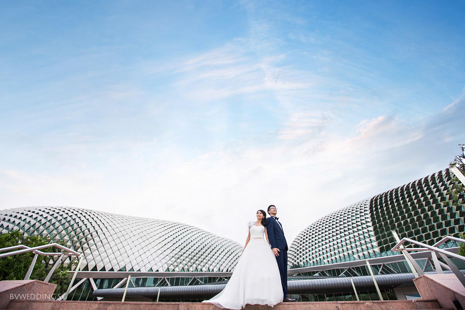 Pre-wedding photoshoot at esplanade