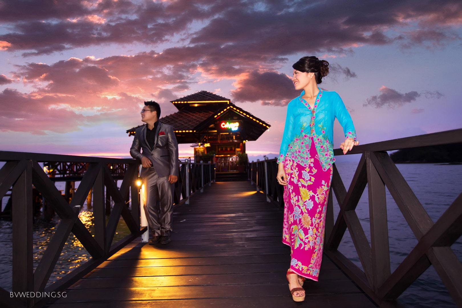 Pre-wedding photoshoot at Bintan Island Peranakan style