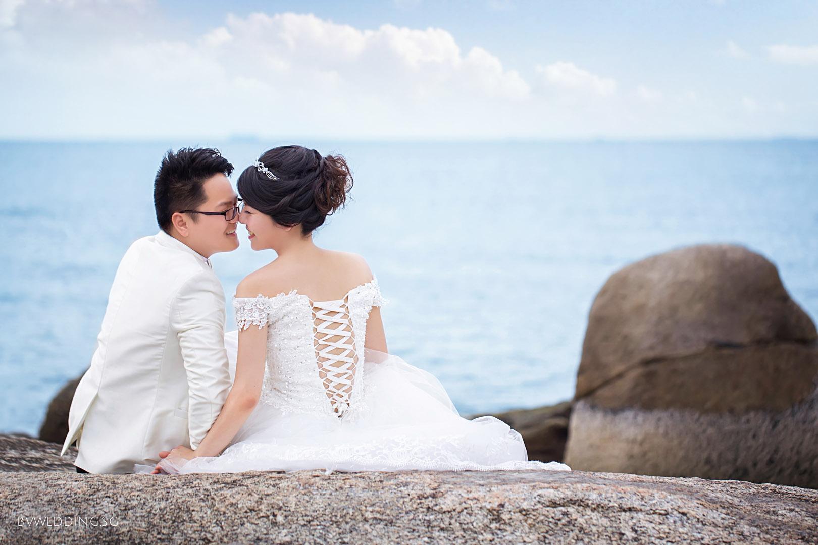 Pre-wedding photoshoot at Bintan Island Beach