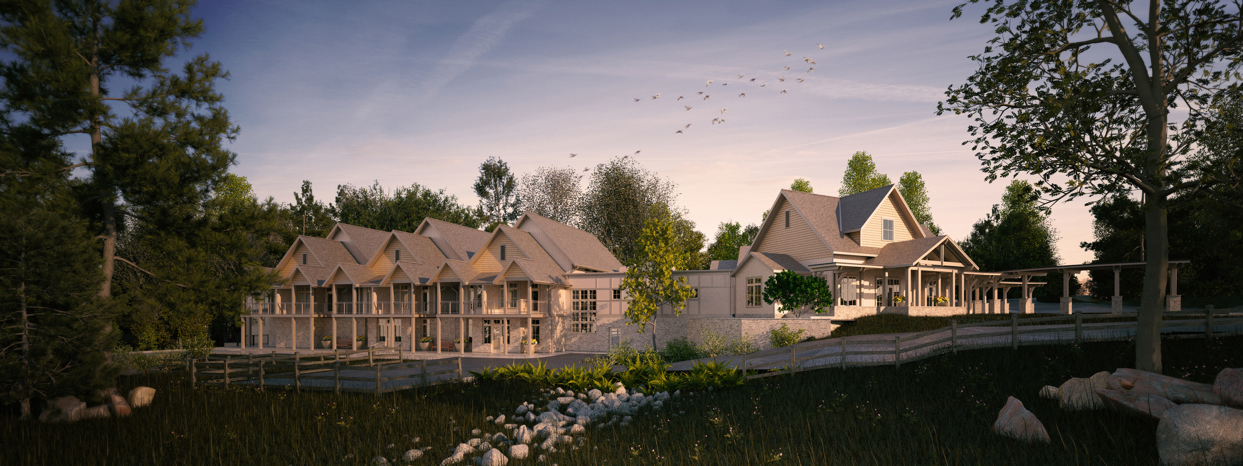 rendering by studiosidewalk  Hospice Patient Care Facility in Mobile, AL by HDS Architecture