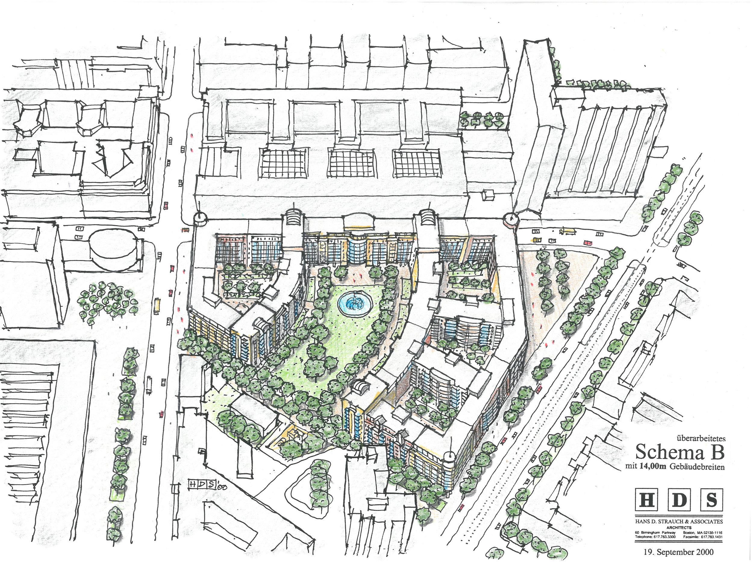 Gateway Building Berlin Site Plan by HDS Architecture