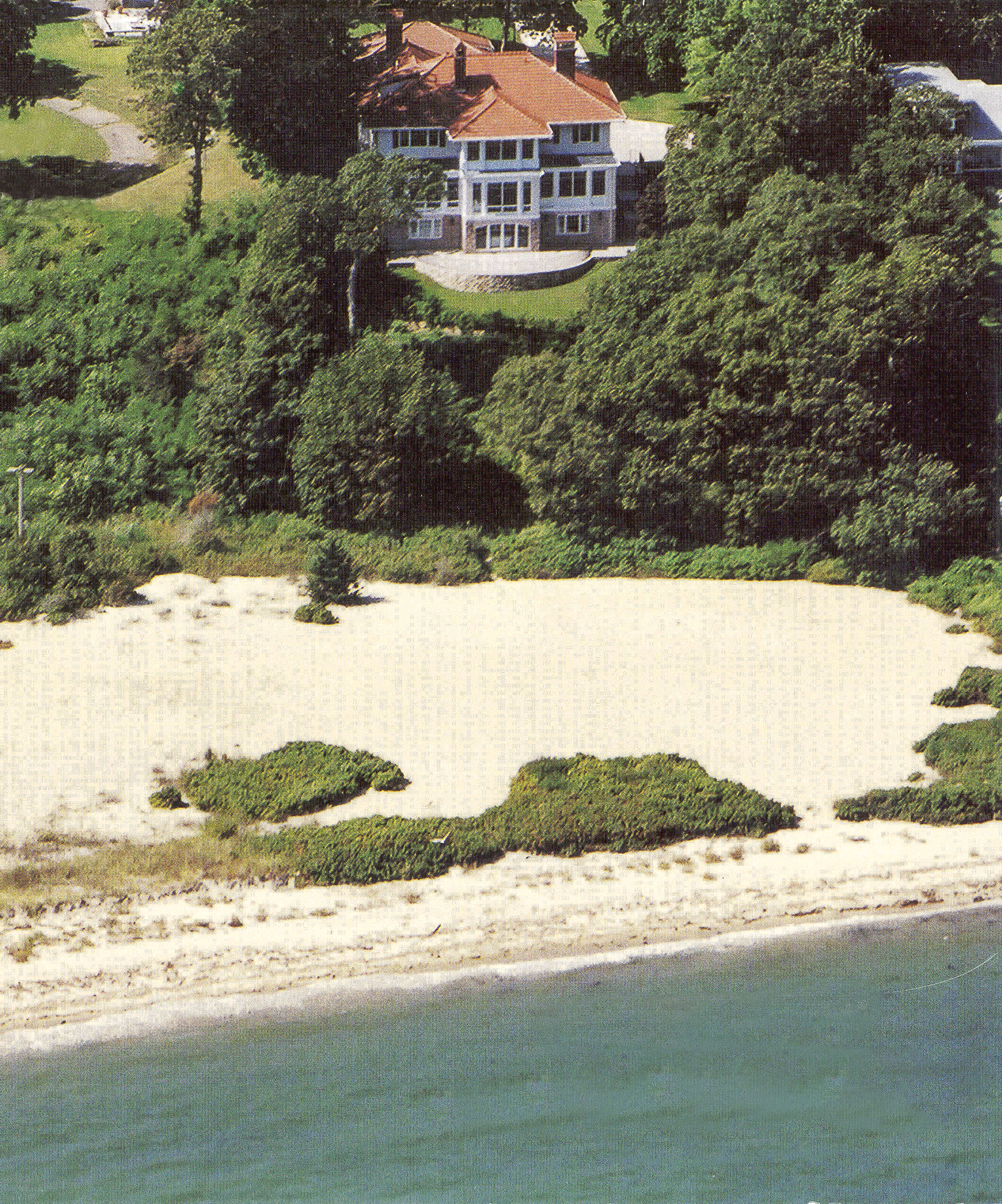 Vineyard Haven Mansion Aerial by HDS Architecture