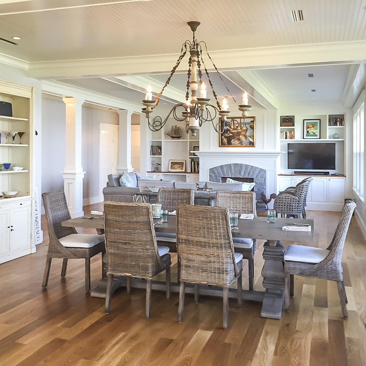 Oceanfront Cottage Dining Room by HDS Architecture