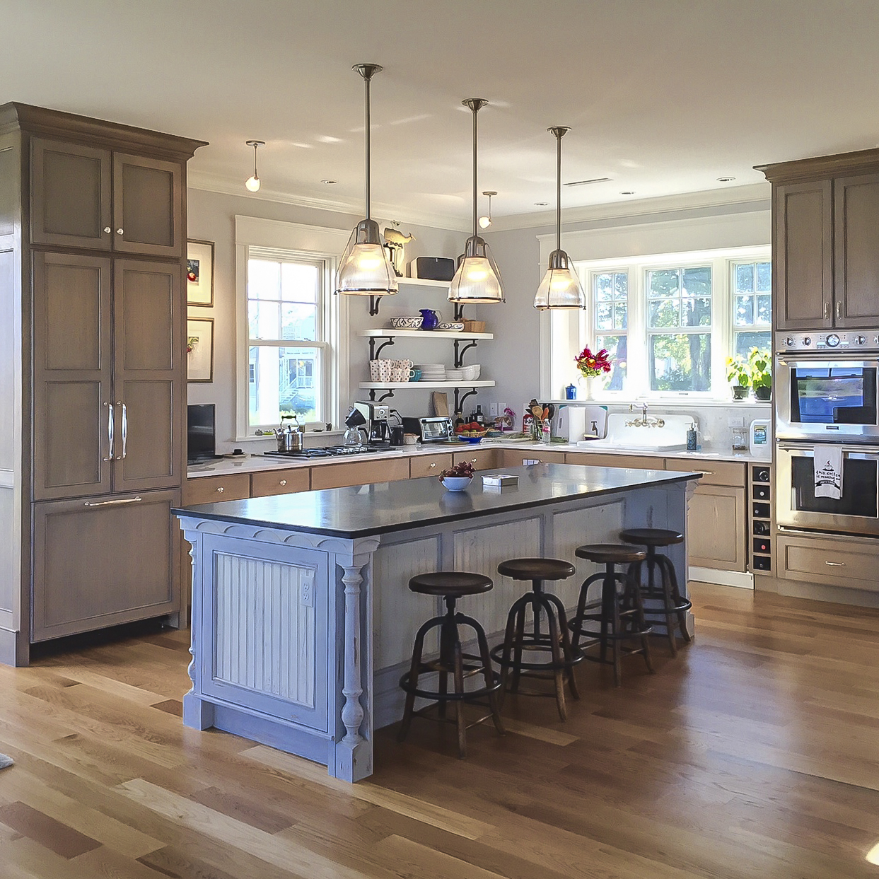 Oceanfront Cottage Kitchen by HDS Architecture