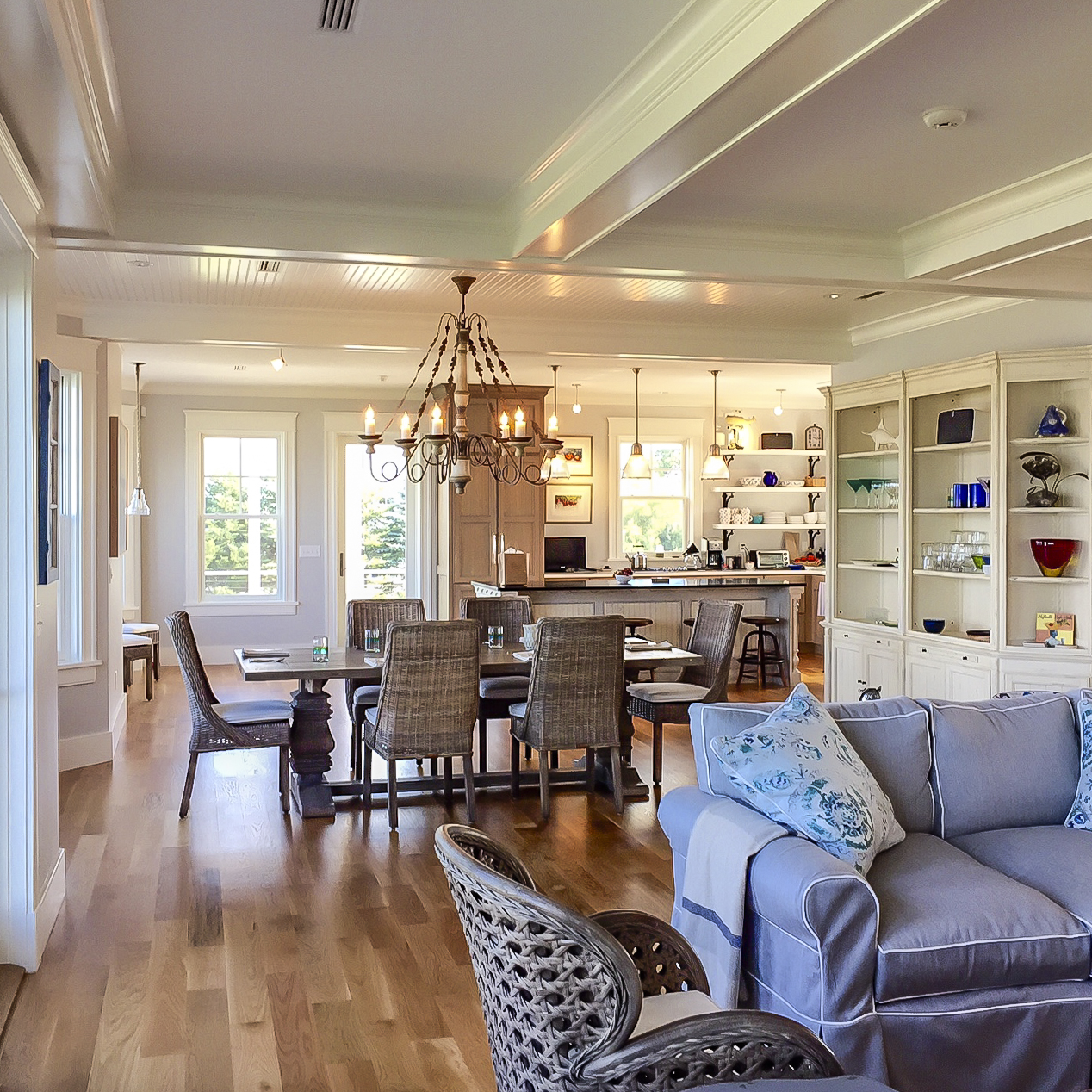 Oceanfront Cottage Living Room by HDS Architecture