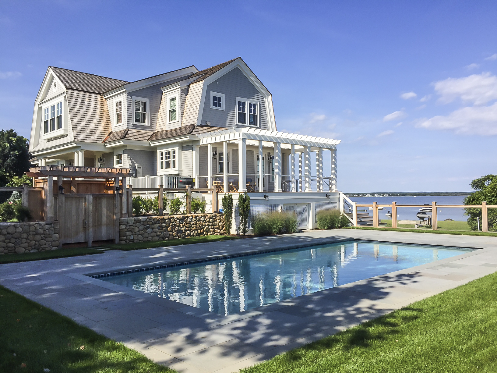 Oceanfront Cottage Pool by HDS Architecture