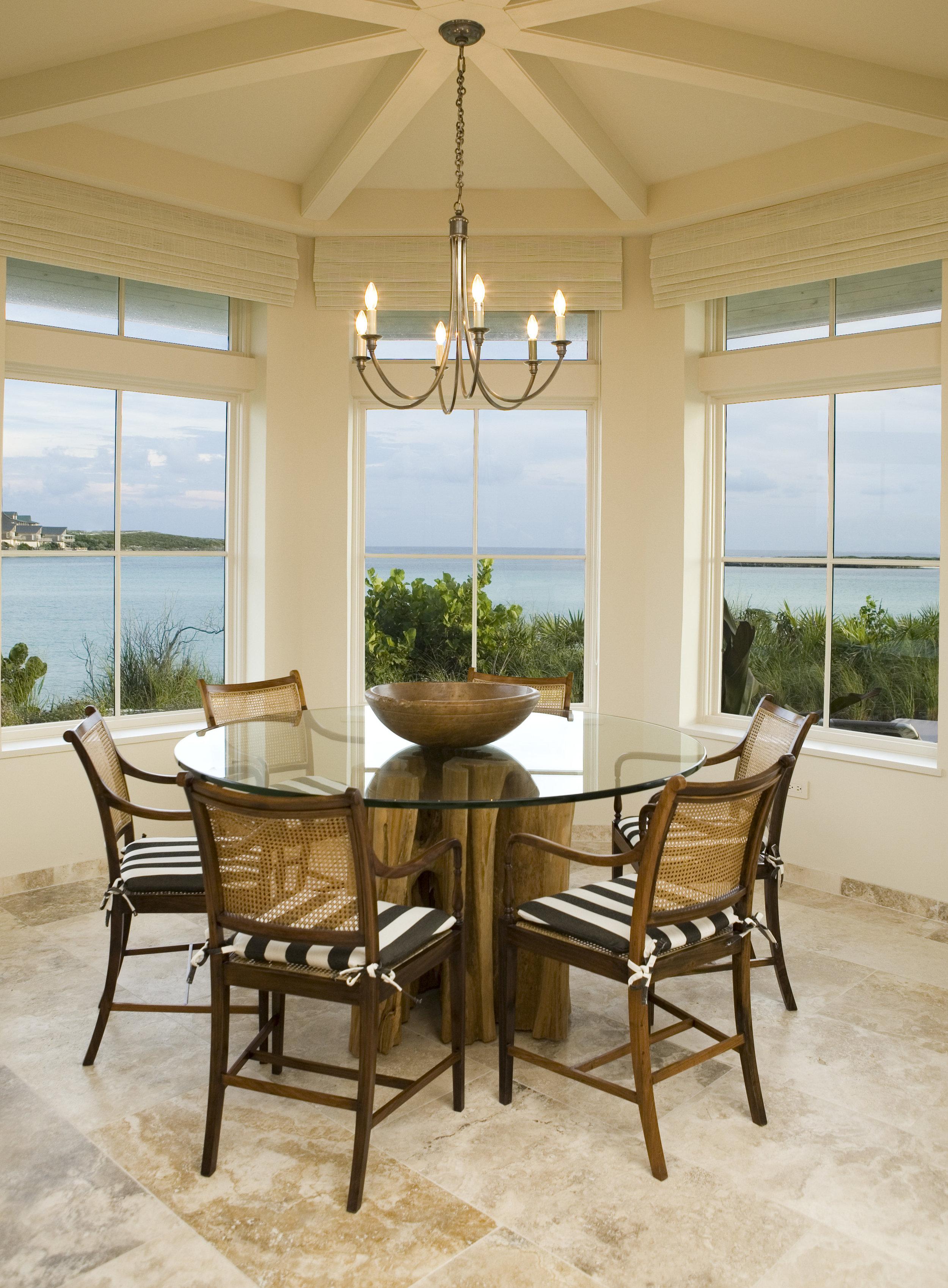 Beachfront Estate Breakfast Nook by HDS Architecture