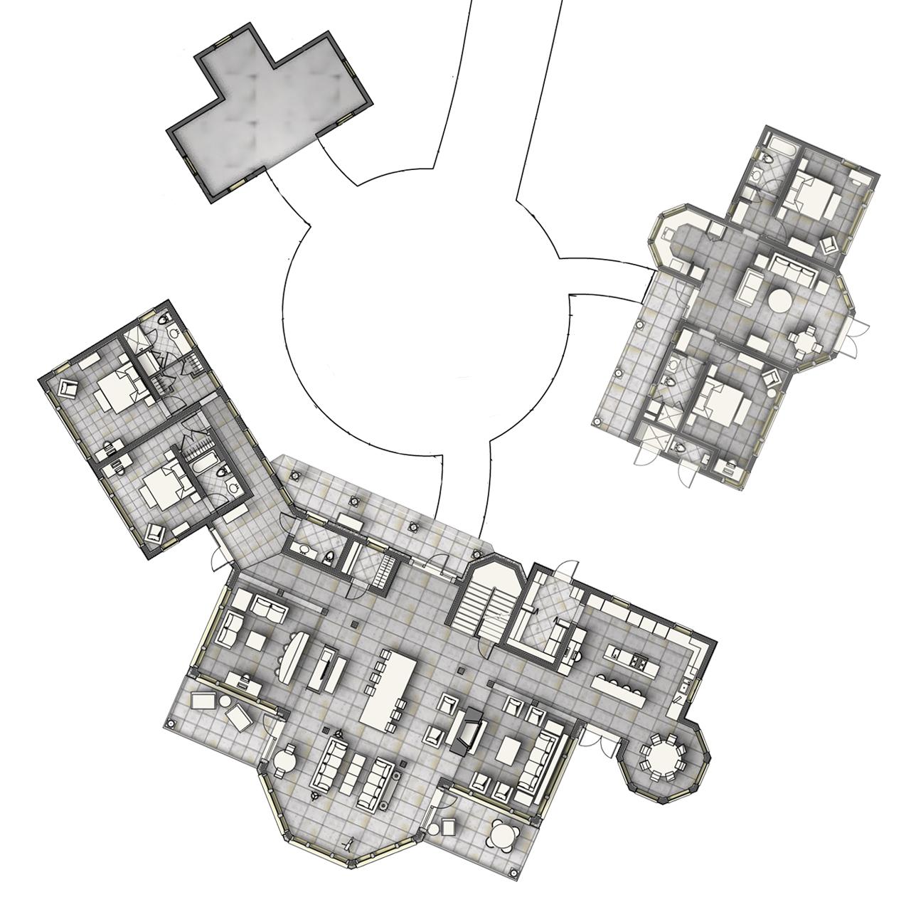 Beachfront Estate Bahamas Site Plan by HDS Architecture