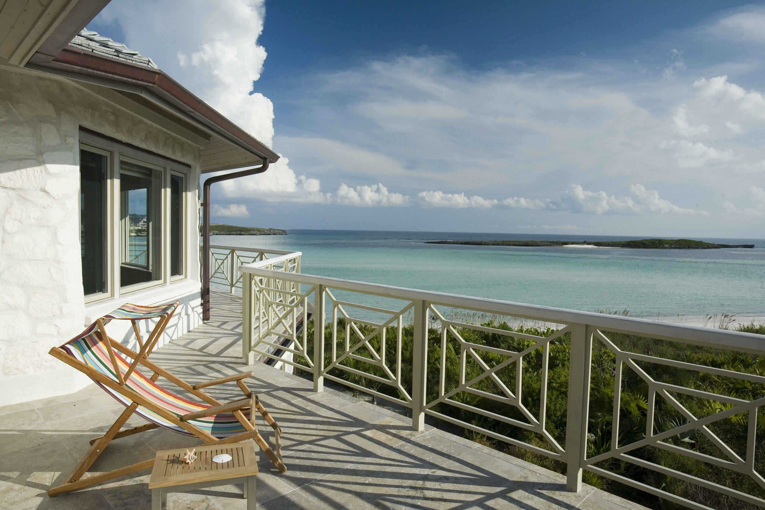 Beachfront Estate Bahamas Terrace by HDS Architecture