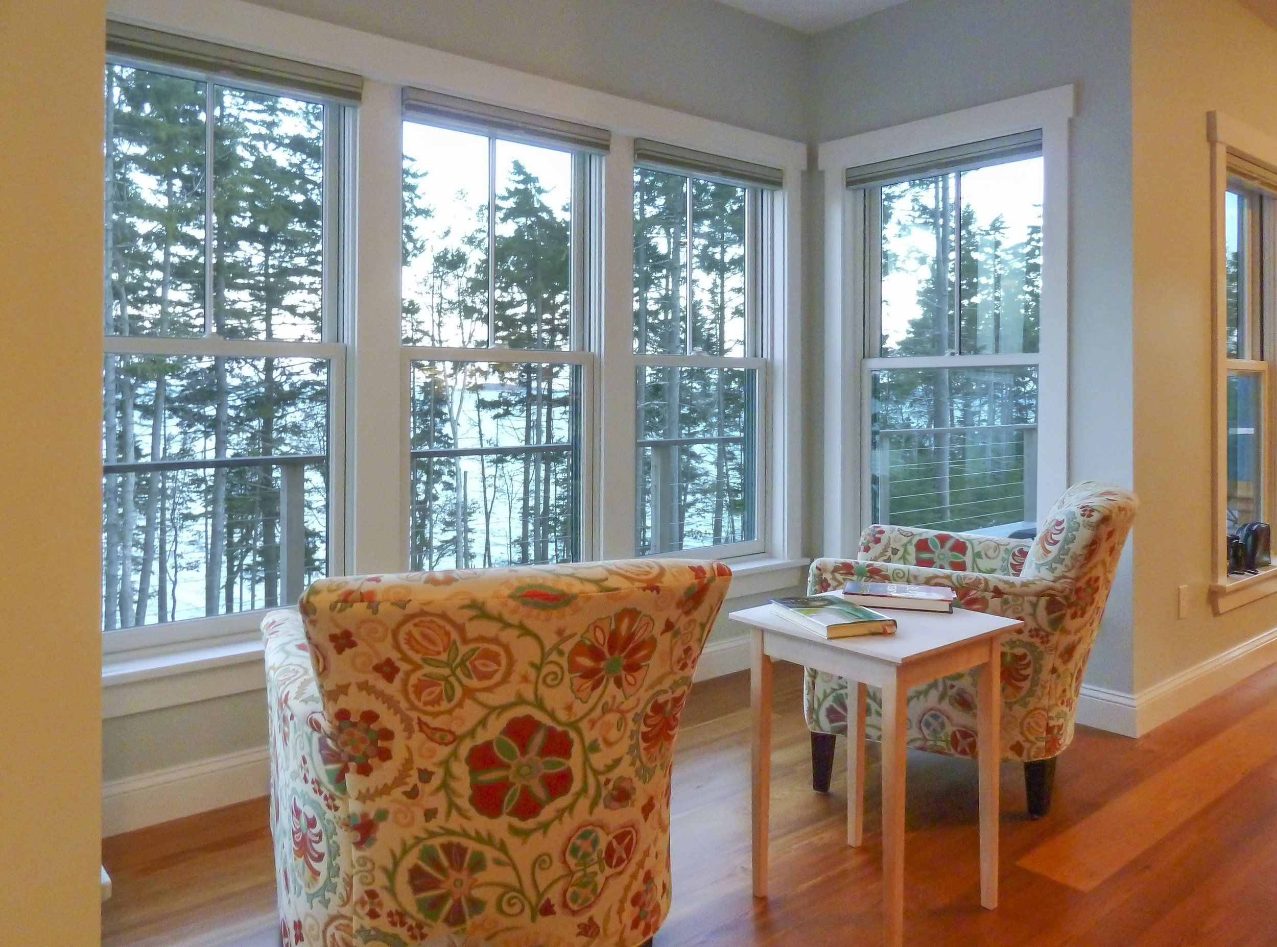 Coastal Residence Maine Sitting Area by HDS Architecture