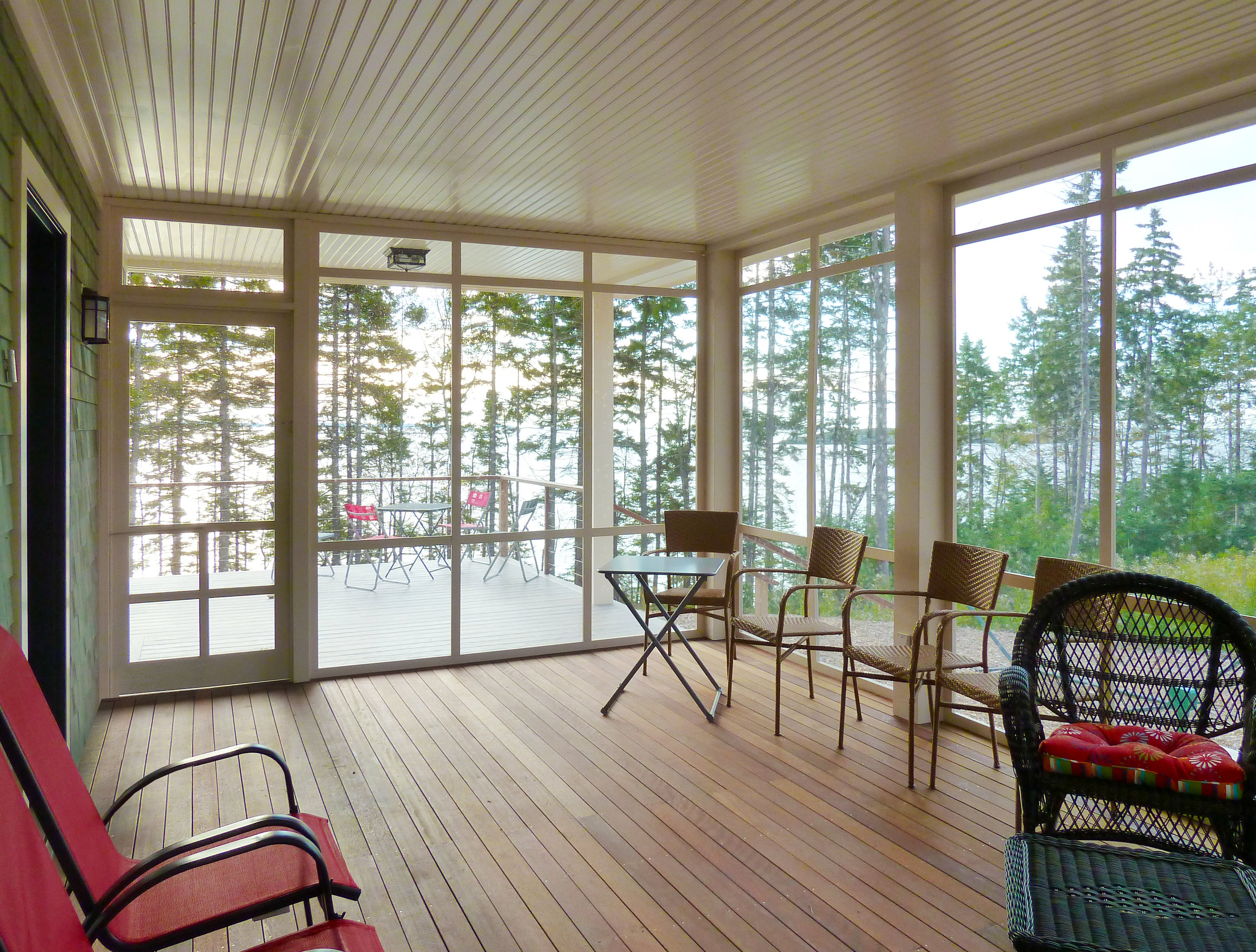 Coastal Residence Maine Porch by HDS Architecture