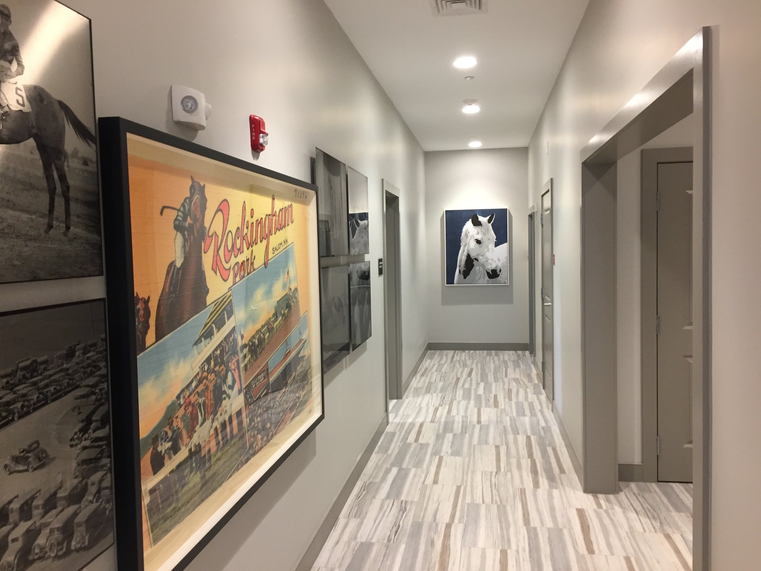 Clubhouse Hallway by HDS Architecture
