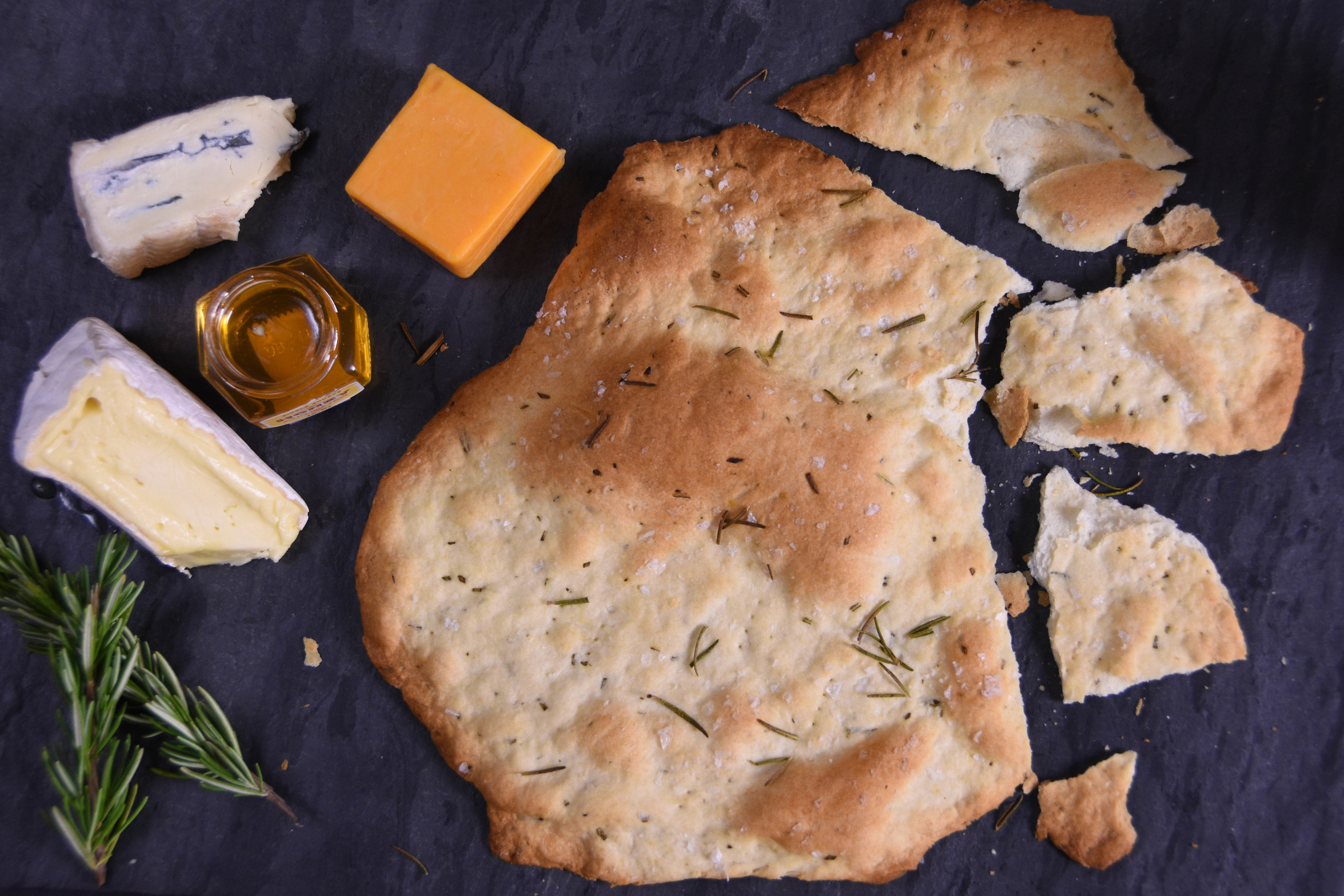 You only need 7 simple ingredients to make these amazing crackers: