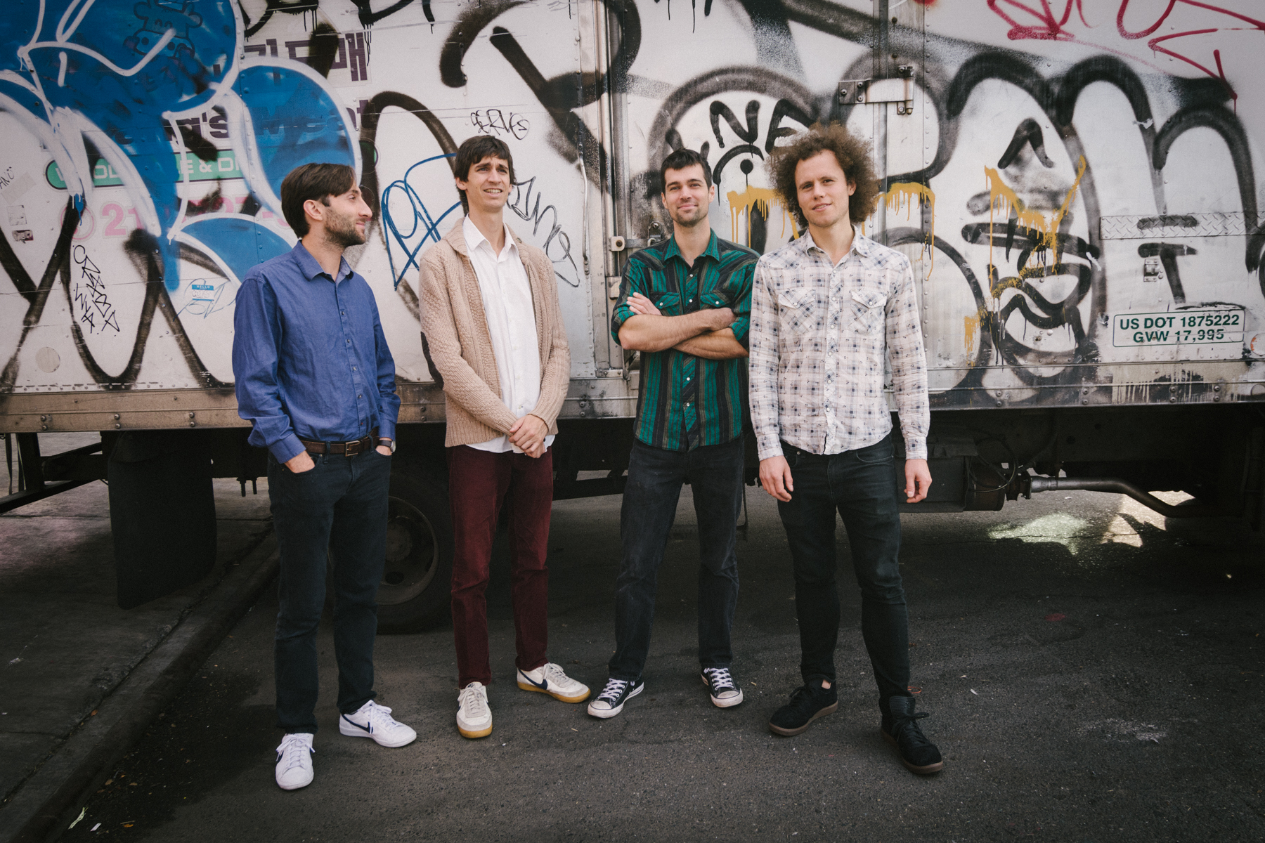 From left to right:Bryan Reeder (piano),Will Clark (drums),Calvin Crosby (bass), Brian Hawthorne (guitar & vocals)